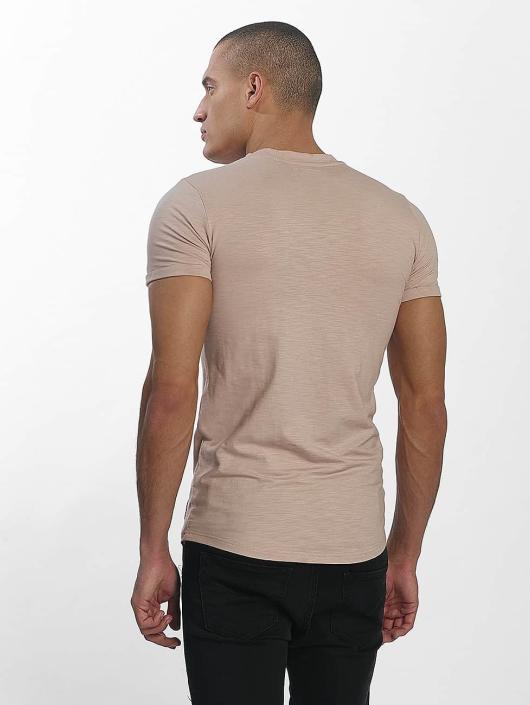 Sixth June Camiseta Skinny Round Bottom beis