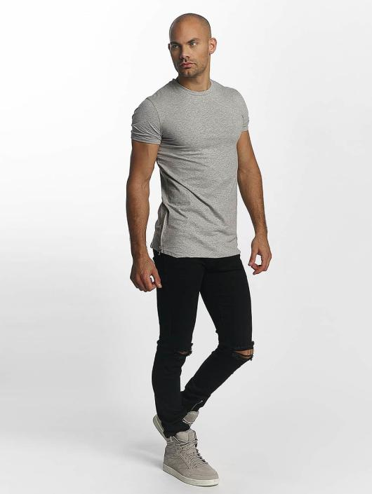 Sixth June Camiseta Skinny Round Bottom gris