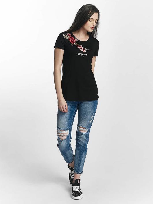 Sixth June Camiseta Rose Stich negro