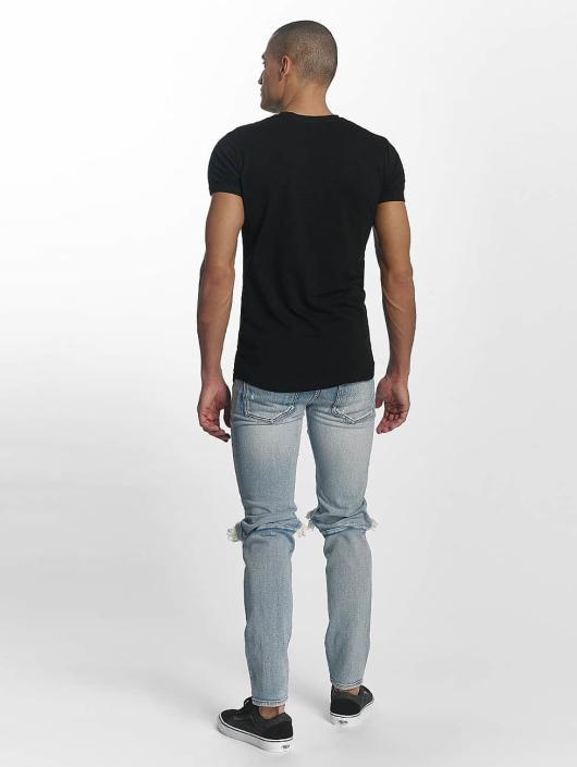 Sixth June Camiseta Skinny Round Bottom negro