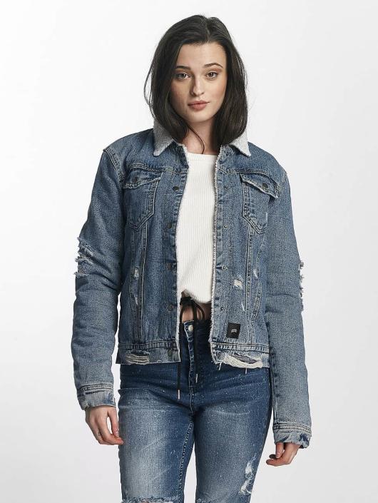 Sixth June Denim Jacket Jeans Sherpa blue