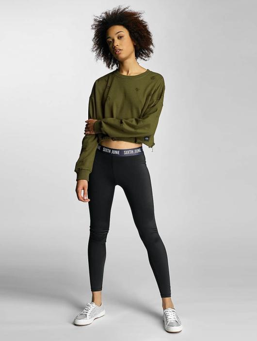 Sixth June Gensre Destroyed Cropped khaki
