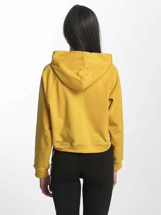 Sixth June Hoodie Cropped Sweat yellow