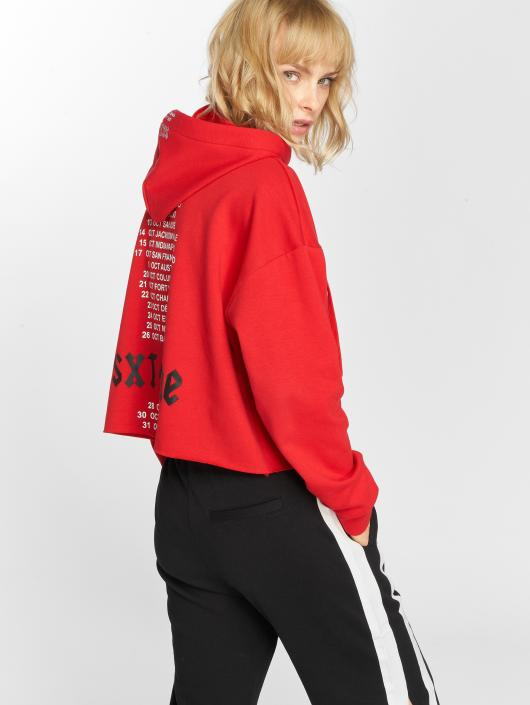 Sixth June Hoodies Oversize Cropped rød