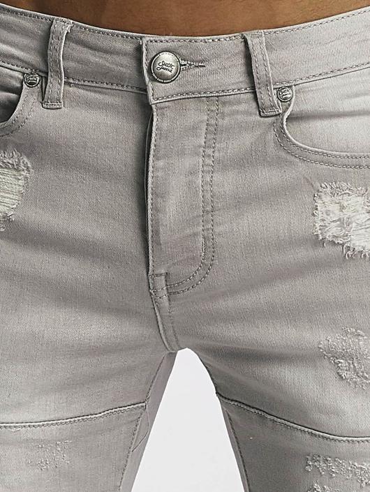 Sixth June Jean skinny Skinny Destroyed gris