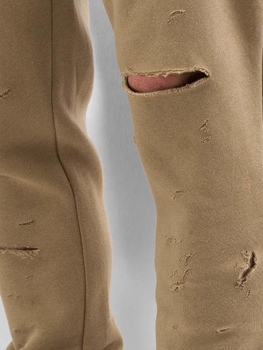 Sixth June Jogginghose Destroyed Slim Fit beige