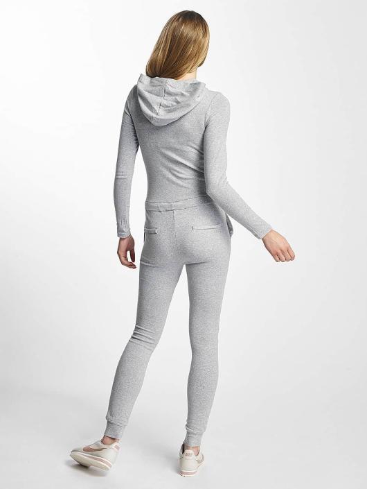 Sixth June Jumpsuit Hooded Longsleeve grau