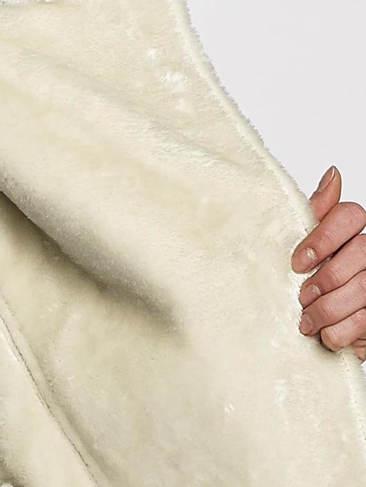 Sixth June Lederjacke Perfecto Fur beige