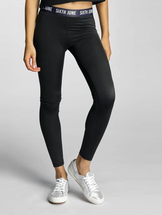 Sixth June Leggings/Treggings Logo czarny