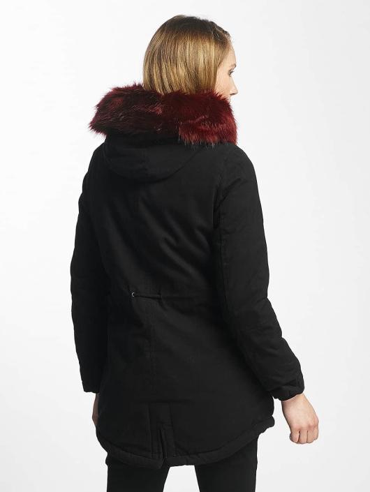 Sixth June Manteau hiver Oversize With Fake Fur Hood Classic noir