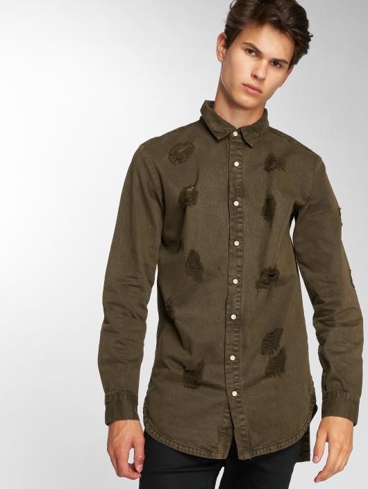 Sixth June overhemd Destroyed khaki