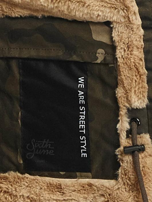 Sixth June Parka Fur camouflage