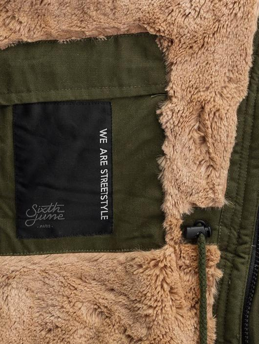 Sixth June Parka Fur kaki