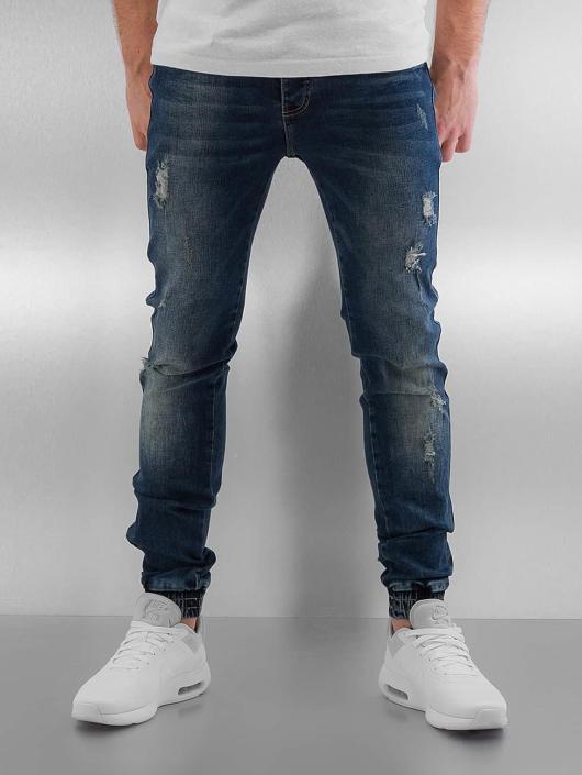 Sixth June Herren Skinny Jeans Elasticated in blau 301536 3645fedada