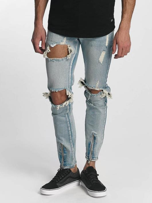 Sixth June Skinny Jeans Destroyed blau
