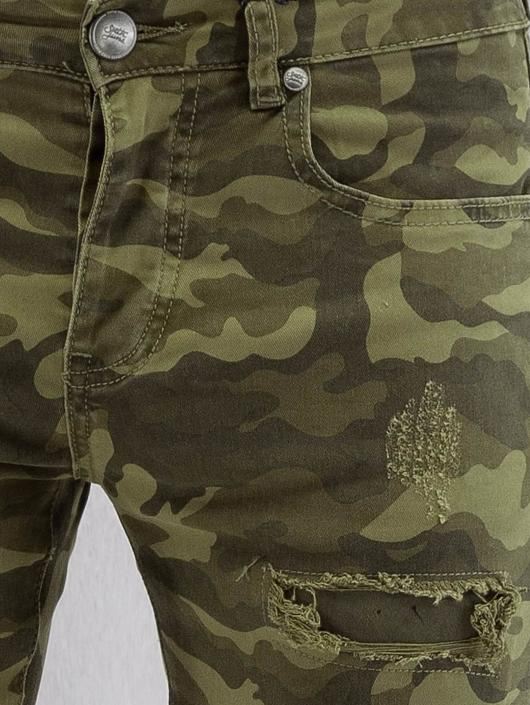 Sixth June Skinny Jeans Destroyed Camou camouflage