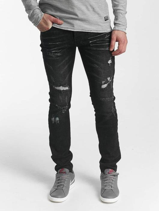 Sixth June Skinny Jeans Destroyed czarny