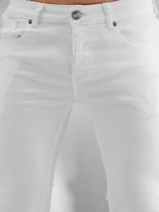Sixth June Skinny Jeans Opened On Knee weiß