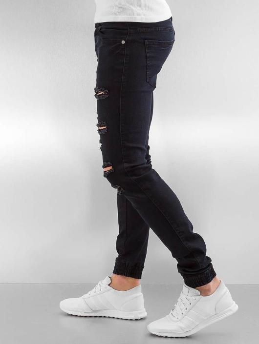 Sixth June Slim Fit Jeans Destroyed èierna