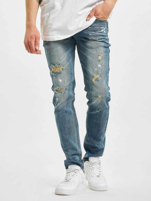 Sixth June Slim Fit Jeans Destroyed Washed blau