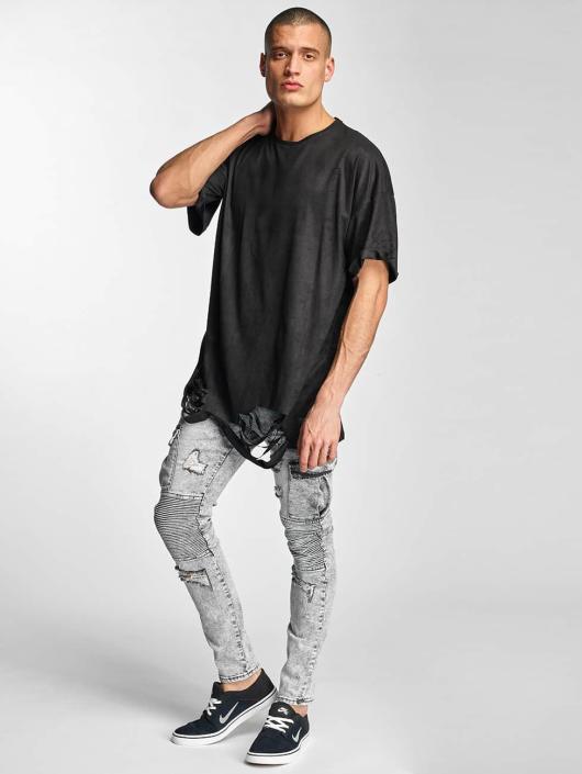Sixth June Slim Fit Jeans Biker Cargo grau