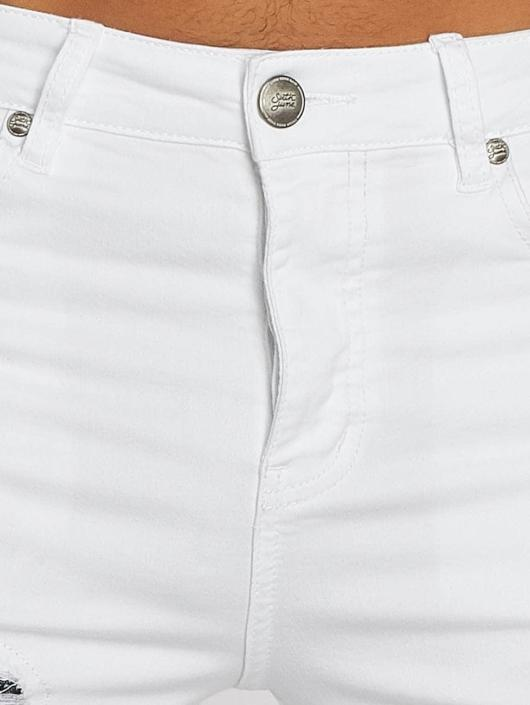 Sixth June Slim Fit Jeans Hudson hvit