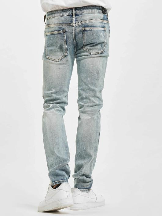 Sixth June Slim Fit Jeans Destroyed Washed modrý