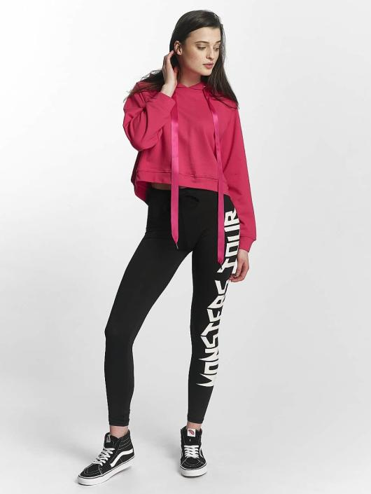 Sixth June Sweat capuche Cropped Sweat magenta