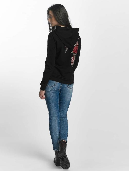 Sixth June Sweat capuche Rose Stich noir