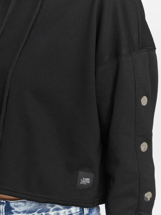 Sixth June Sweat capuche Button noir