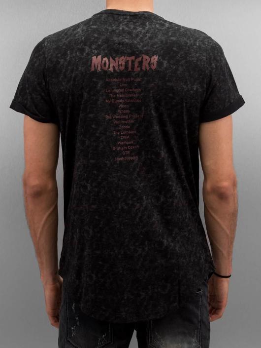 Sixth June T-Shirt Rounded Bottom Acid black
