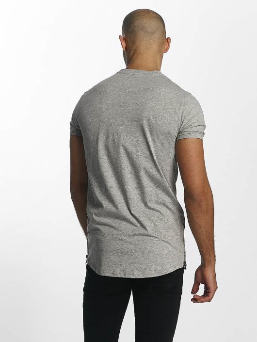 Sixth June T-Shirt Skinny Round Bottom grau