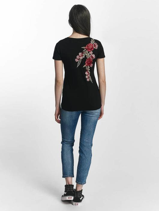 Sixth June T-Shirt Rose Stich noir