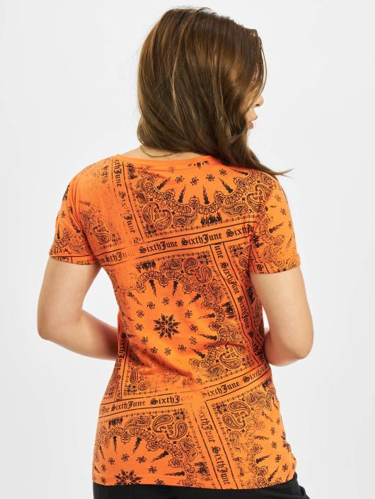 Sixth June t-shirt Emilia oranje
