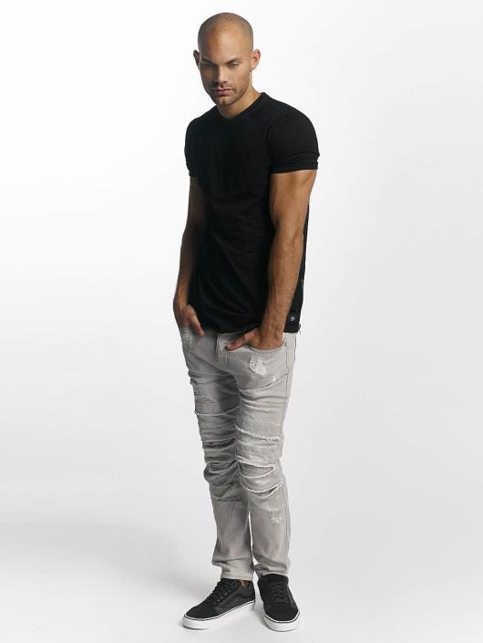 Sixth June T-Shirt Skinny Round Bottom schwarz