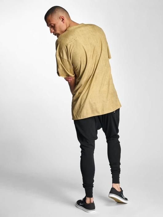 Sixth June T-Shirty Destroyed Overside Suede bezowy