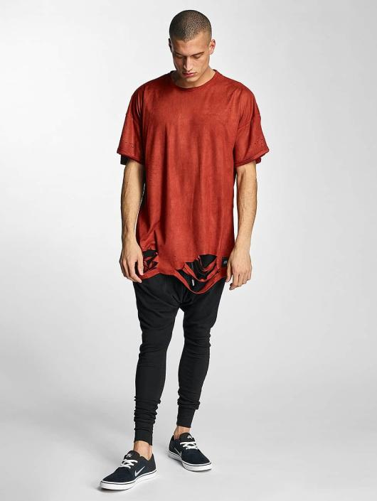 Sixth June T-Shirty Destroyed Overside Suede czerwony