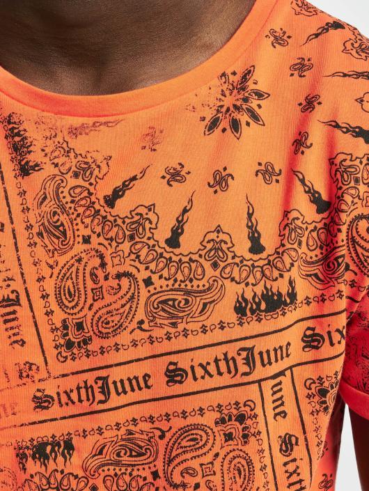 Sixth June T-Shirty Myron pomaranczowy