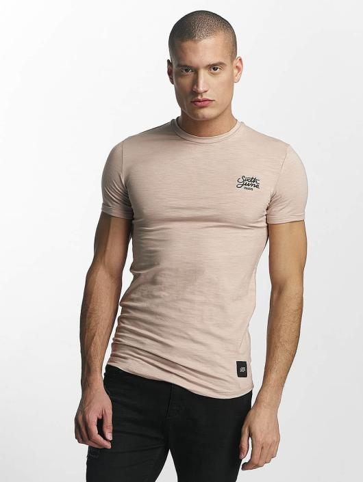Sixth June T-skjorter Skinny Round Bottom beige