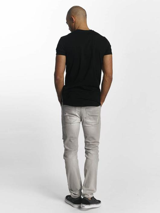 Sixth June T-skjorter Skinny Round Bottom svart