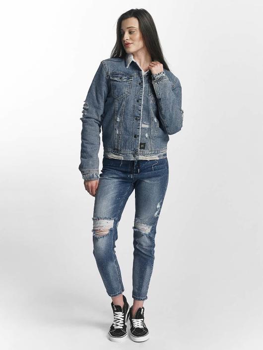 Sixth June Veste Jean Jeans Sherpa bleu