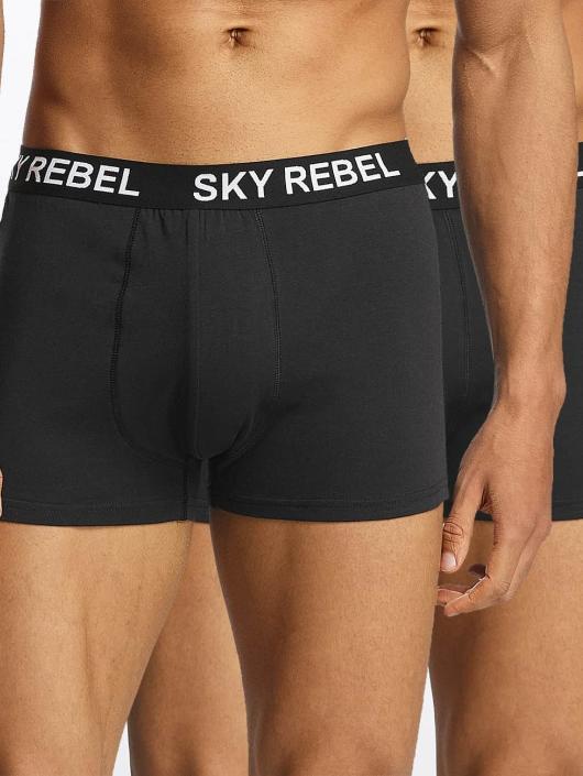 Sky Rebel  Shorts boxeros Double Pack Logo negro