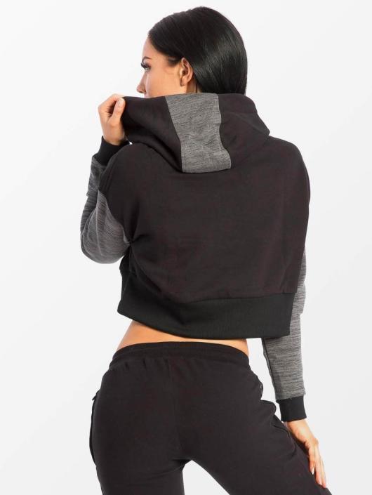 Smilodox Hoodie Flawless Cropped black