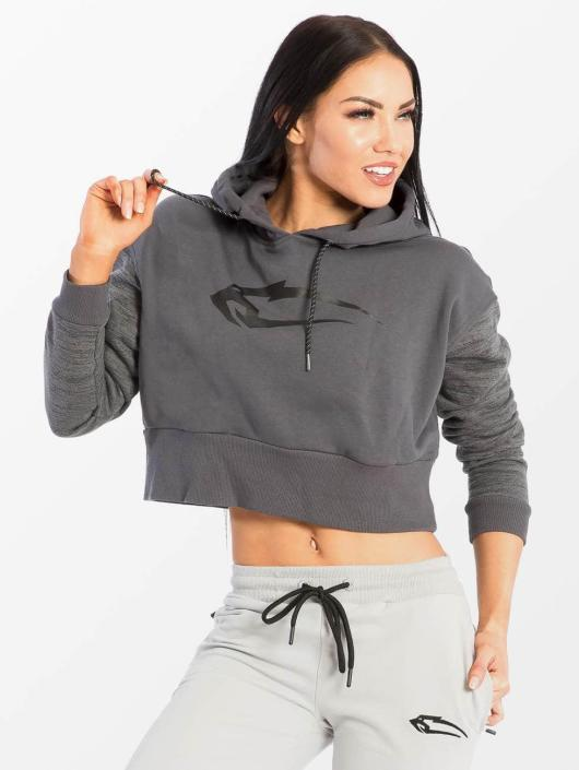 Smilodox Sweat capuche Flawless Cropped gris