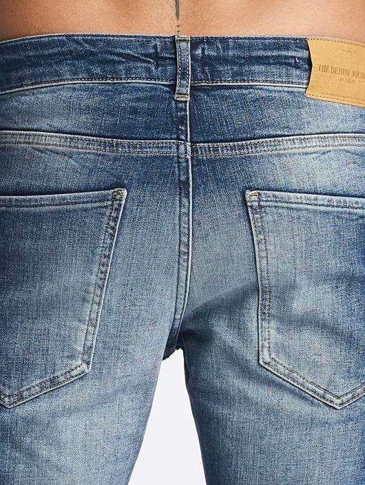 Solid Skinny Jeans Dexter blau