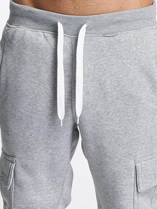 Southpole Jogging kalhoty Basic Fleece Cargo šedá