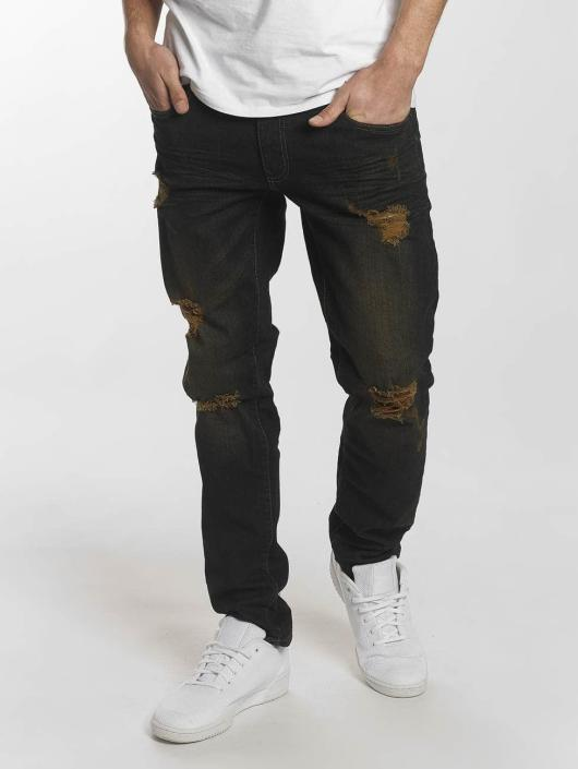 Southpole Skinny Jeans Ripped Stretch Denim black