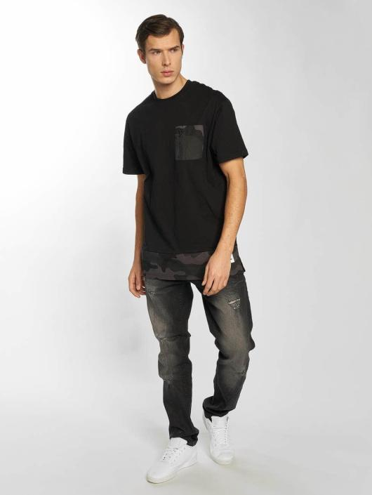 Southpole Skinny Jeans Ripped Stretch Denim black