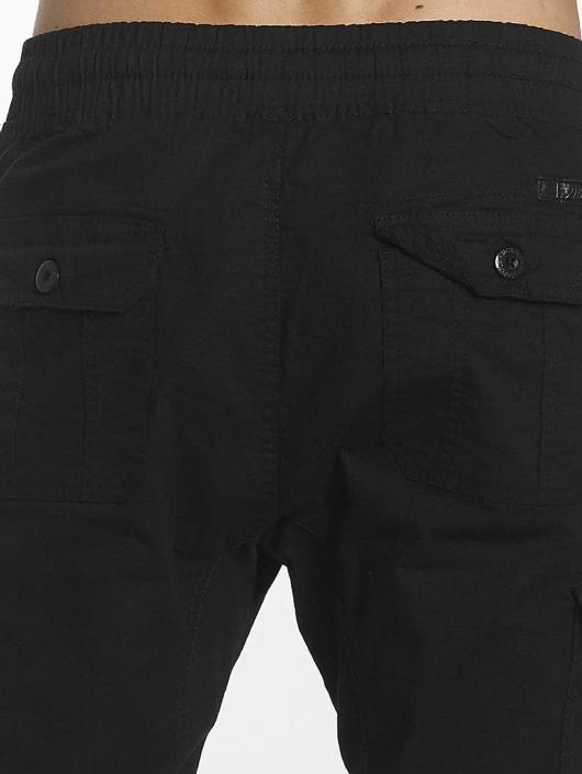 Southpole Spodnie do joggingu Ripstop Stretch Cargo czarny