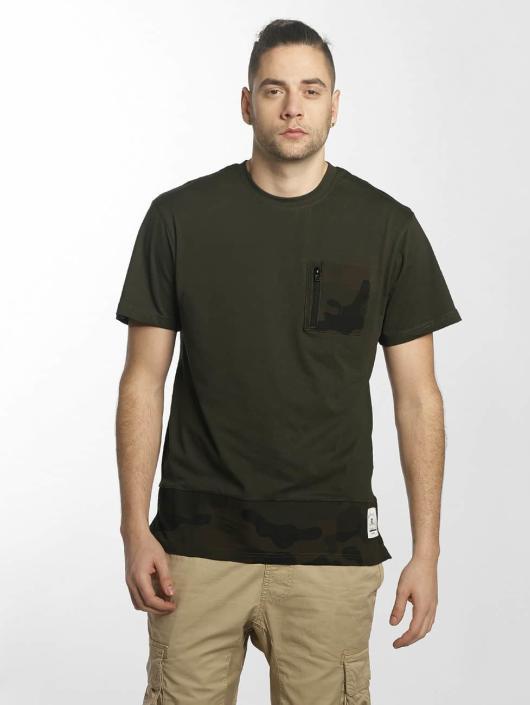Southpole T-shirts Pocket oliven
